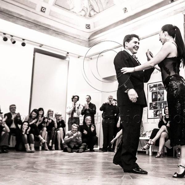 Pablo Garcia y Romina Godoy. Esibizione. Palazzo della Penna. Perugia